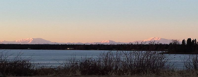 Nearby views of the Alaska Range