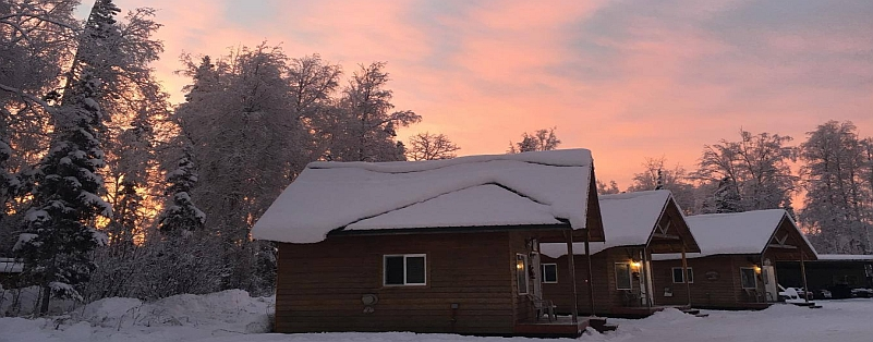 Sunrise Over the Cabins